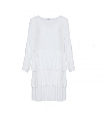 Front af hvid kjole fra Tiffany