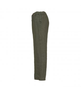 Tiffany 18870 Linen Pants, Dark Army