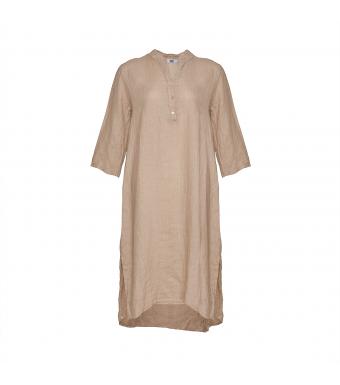 Front af beige kjole