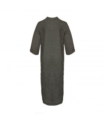 Tiffany 18970 Shirt Dress Linen, Dark Army