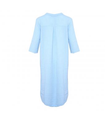 Tiffany 18970 Shirt Dress Double Cotton, Light Blue