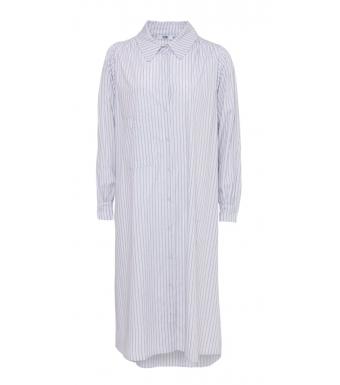 Tiffany Celia Crinkle Dress Cotton Poplin, Camel/blue