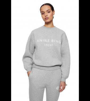 Anine Bing Evan Sweatshirt S-08-5188, Heather Grey