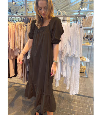 Tiffany Bella Dress Cotton Poplin, Black