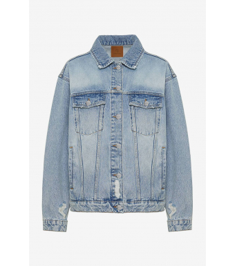 Anine Bing Rory Jacket A-01-7052, Vintage Blue