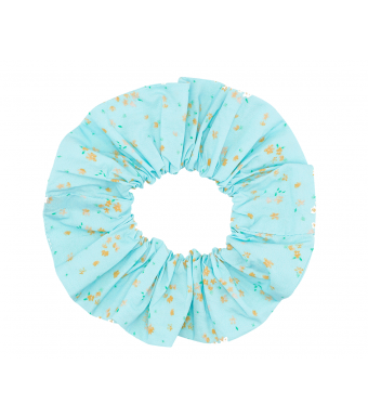 Ganni A3316 Scrunchie Printed Cotton Poplin, 870 Corydalis Blue