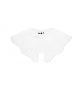 Ganni A3390 Krave Broderie Anglaise, 151 Bright White