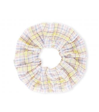 Ganni A3400 Scrunchie Seersucker Check, 999 Multicolour