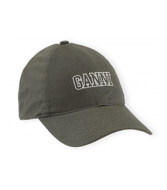 Ganni A3430 Cap Software Heavy Cotton, 861 Kalamata