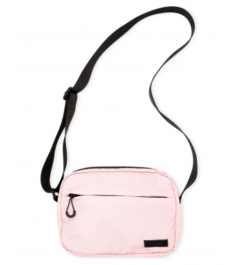 Ganni A3501 Festival Bag Seasonal Recycled Tech Fabric, 478 Pink Nectar