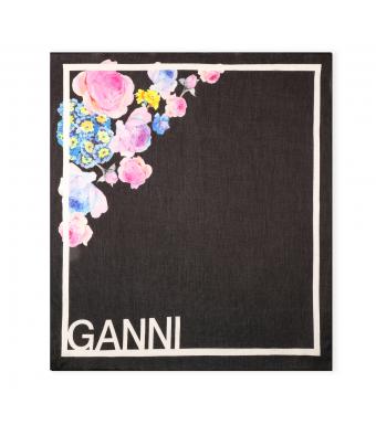 Ganni A3514 Scarf Cotton Voile, 999 Multicolor