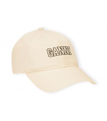 Ganni A3733 Cap Software Heavy Cotton, 135 Egret