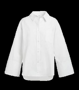 Anine Bing Allie Shirt A-07-3190-100, White