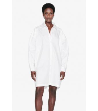 Anine Bing Aubrey Shirt Dress A-02-1122-100, White