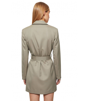 Anine Bing Campbell Dress A-02-1166-250, Green Khaki