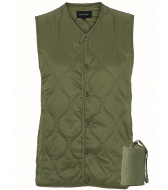 Meotine Paddy Vest, Moss Green