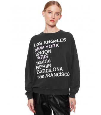 Anine Bing City Love Sweatshirt Charcoal