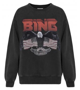 Anine Bing Vintage Bing Eagle Sweatshirt, Black
