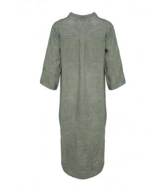 Tiffany 18970 Shirt Dress Linen, Army