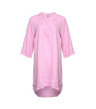 Tiffany Lang Skjorte, Hør, 17690, Sweet Lillac