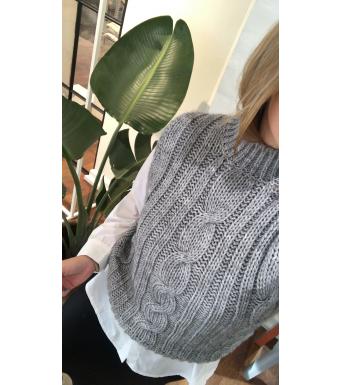 Tiffany Lucca Slipover Knit, Grey Melange