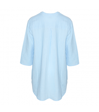 Tiffany 17661 Shirt Double Cotton, Light Blue