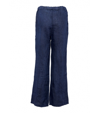 Tiffany 18870 Linen Pants, Blue Navy