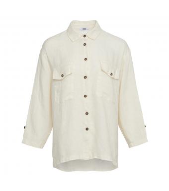 Tiffany Nimm Shirt Linen, Butter Cream