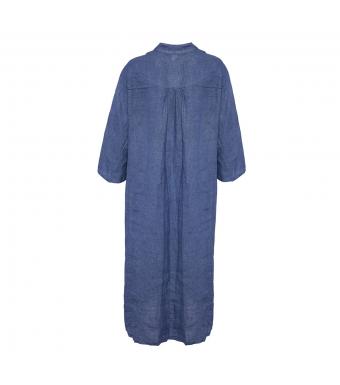 Tiffany Skjortekjole, Hør, 18970, Denim Blue
