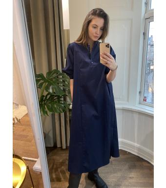 Tiffany Ebbi Dress Cotton Poplin, Navy