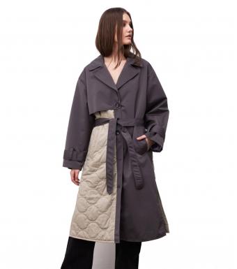 Meotine Safio Coat, Grey