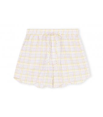 Ganni F6070 Shorts Seersucker Check, 999 Multicolor