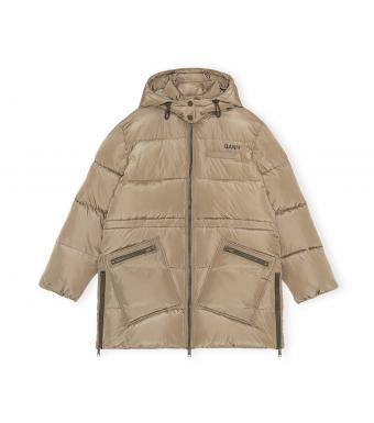 Ganni F6265 Puffer Jacket Tech Puffer, 189 Fossil