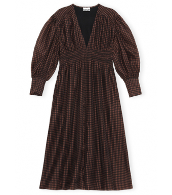 Ganni F6411 Dress Organza, 190 French Roast