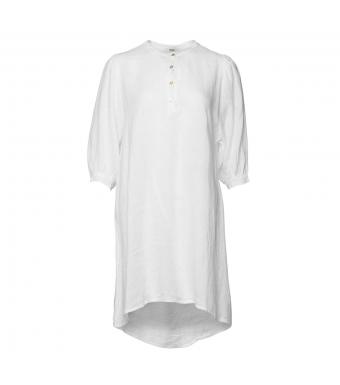 Tiffany Ebbi Short Dress Linen, White