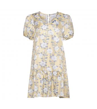 Noella Fenya Dress Jacquard, Yellow Jacqard