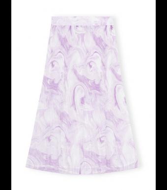 Ganni F5859 Skirt Pleated Georgette, 724 Orchid Bloom