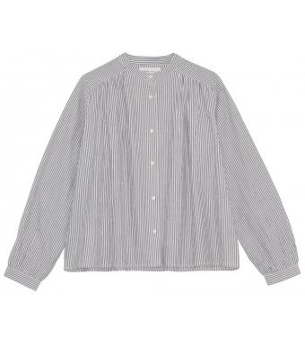 Skall Studios Painter Shirt Stripe, White/grey Stripe
