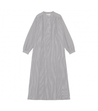 Skall Studios Painter Shirtdress Stripe, White/grey Stripe