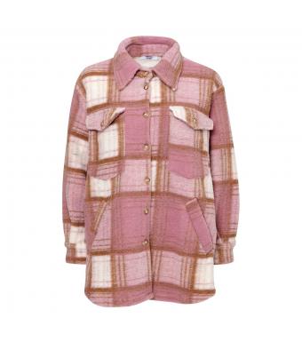 Tiffany Valley Short Coat Checked Wool, Rose/camel