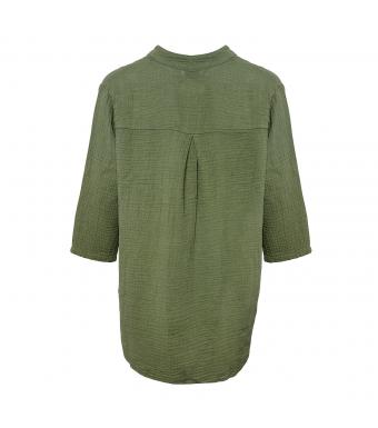 Tiffany Skjorte 17661 Double Cotton Armygrøn