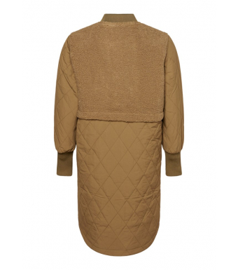 Noella Etta Pile Coat Solid, Light Army