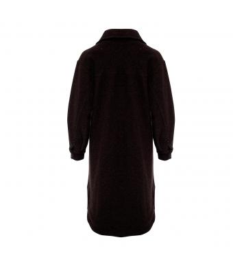 Tiffany Valley Long Coat Wool, Dark Brown