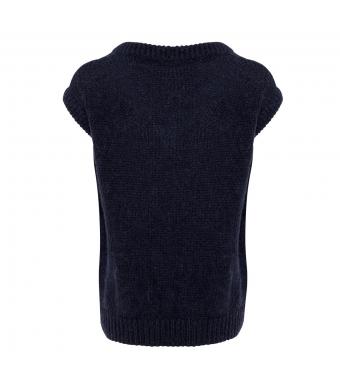 Tiffany Cathy V-neck Slpover Knit, Navy