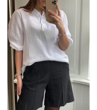 Tiffany Luna Blouse Double Cotton, White
