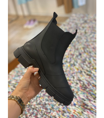 Ganni S1526 City Boot Recycled Rubber, 099 Black