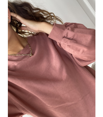 Noella Tatum Sweatshirt Cotton, Old Rose