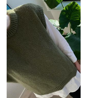 Tiffany Cathy Slipover Knit, Dusty Olive
