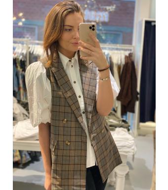 Noella Forte Checked Waistcoat, Small Multi Checks