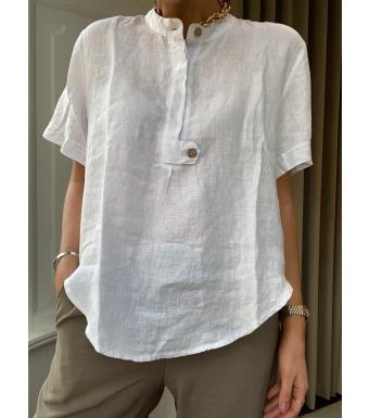 Tiffany Ella Top Linen, White
